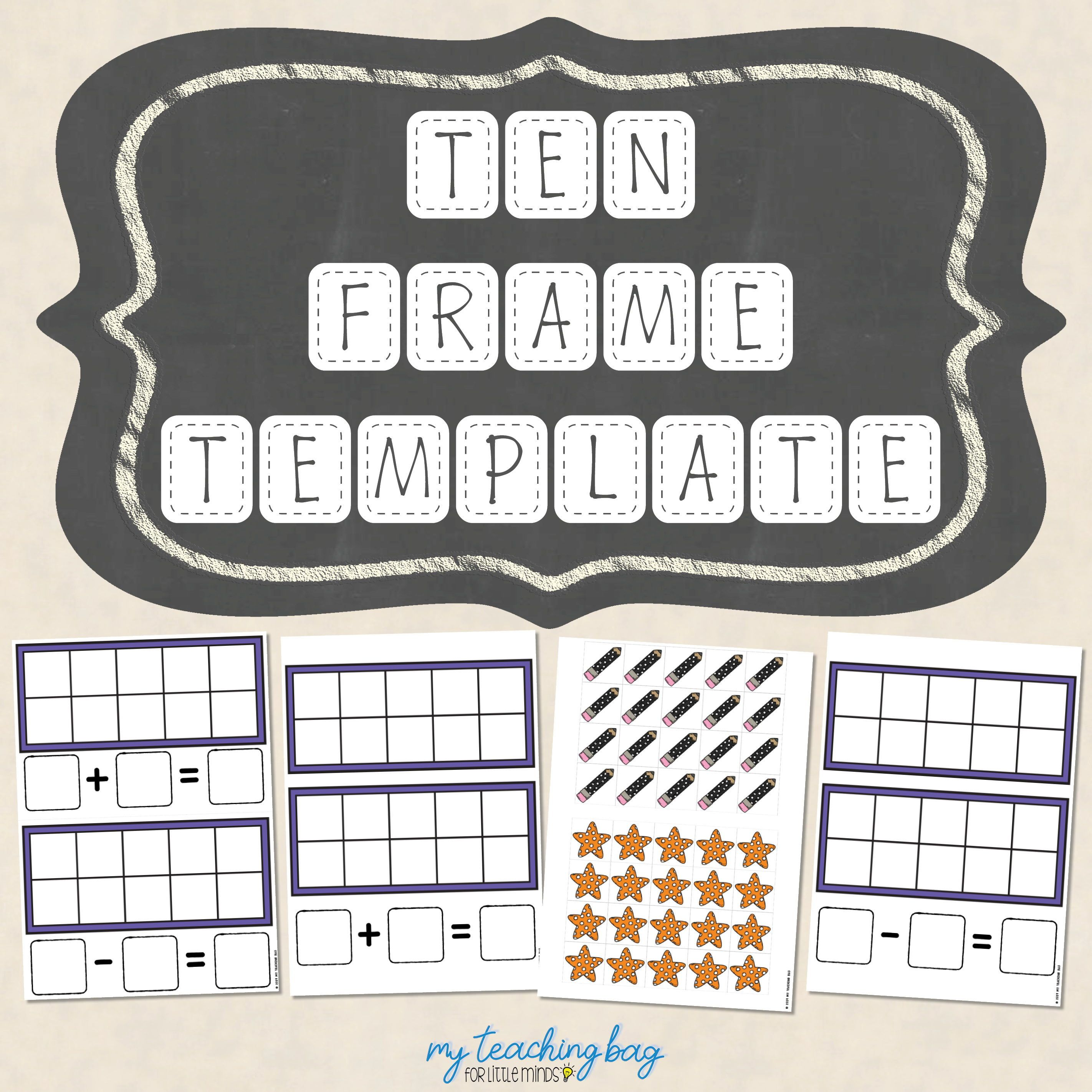 Ten Frame Template For Addition And Subtraction Up To 20