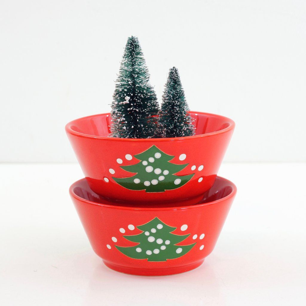 Sold Vintage Waechtersbach Western Germany Christmas Tree Cereal Bowls Christmas Bowl Cereal Bowls Christmas Tree
