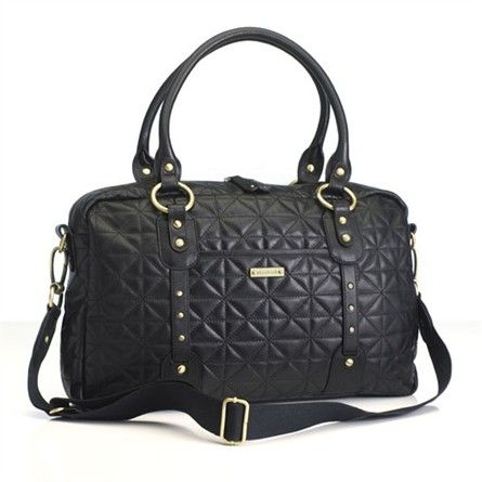 Rosenberry Rooms has everything imaginable for your child's room! Share the news and get $20 Off  your purchase! (*Minimum purchase required.) Elizabeth Hand Quilted Leather Diaper Bag in Black #rosenberryrooms
