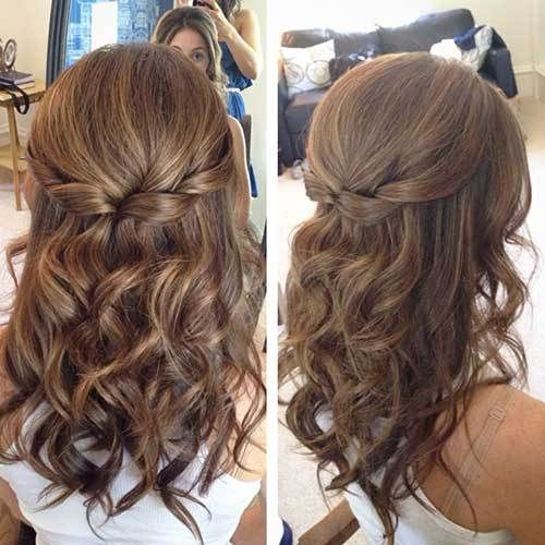 Take A Look At The Best Wedding Hairstyles Medium Length In Photos Below And Get Ideas For Your Half Up Down Hair With Curls Prom