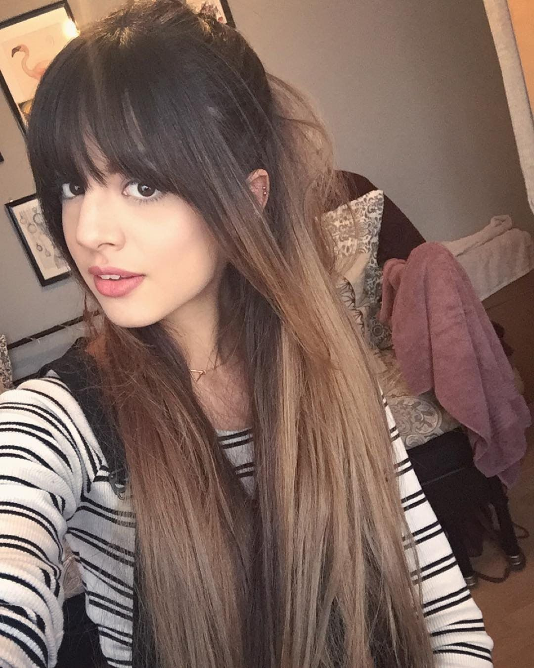10 Of The Most Beautiful Long Hairstyles with Bangs - Highpe