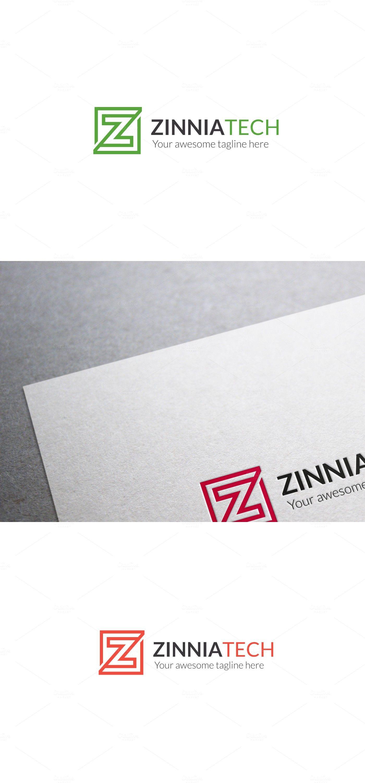 Zinnia Tech Z Letter Logo Template Logo Design Logo Ideen