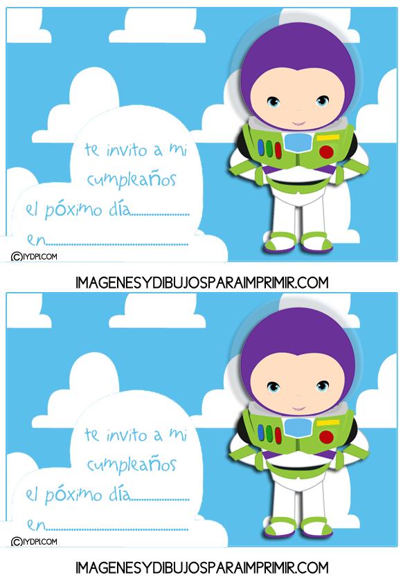 Invitaciones De Cumpleaños De Toy Story Para Imprimir