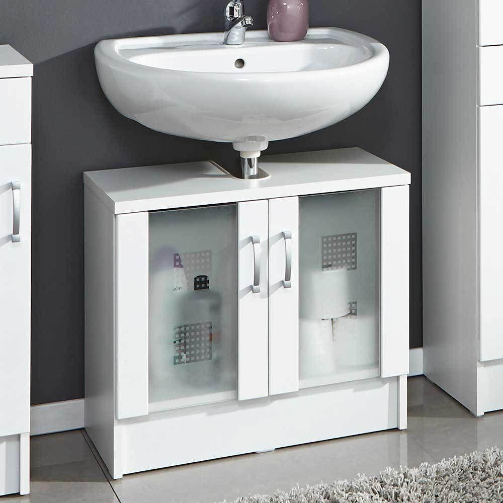 Badezimmer Waschbeckenschrank In Weiß Hochglanz 2 Glastüren Jetzt Bestellen  Unter: Https://moebel