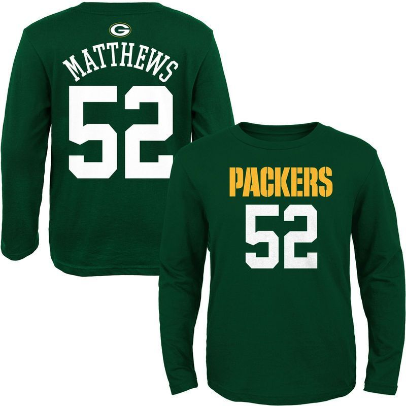 Clay matthews green bay packers youth mainliner name