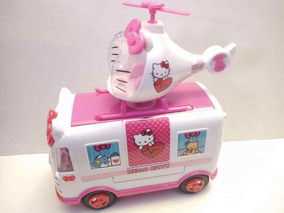Hello Kitty Doctor Hospital Ambulance Helicopter Rescue Play Set w