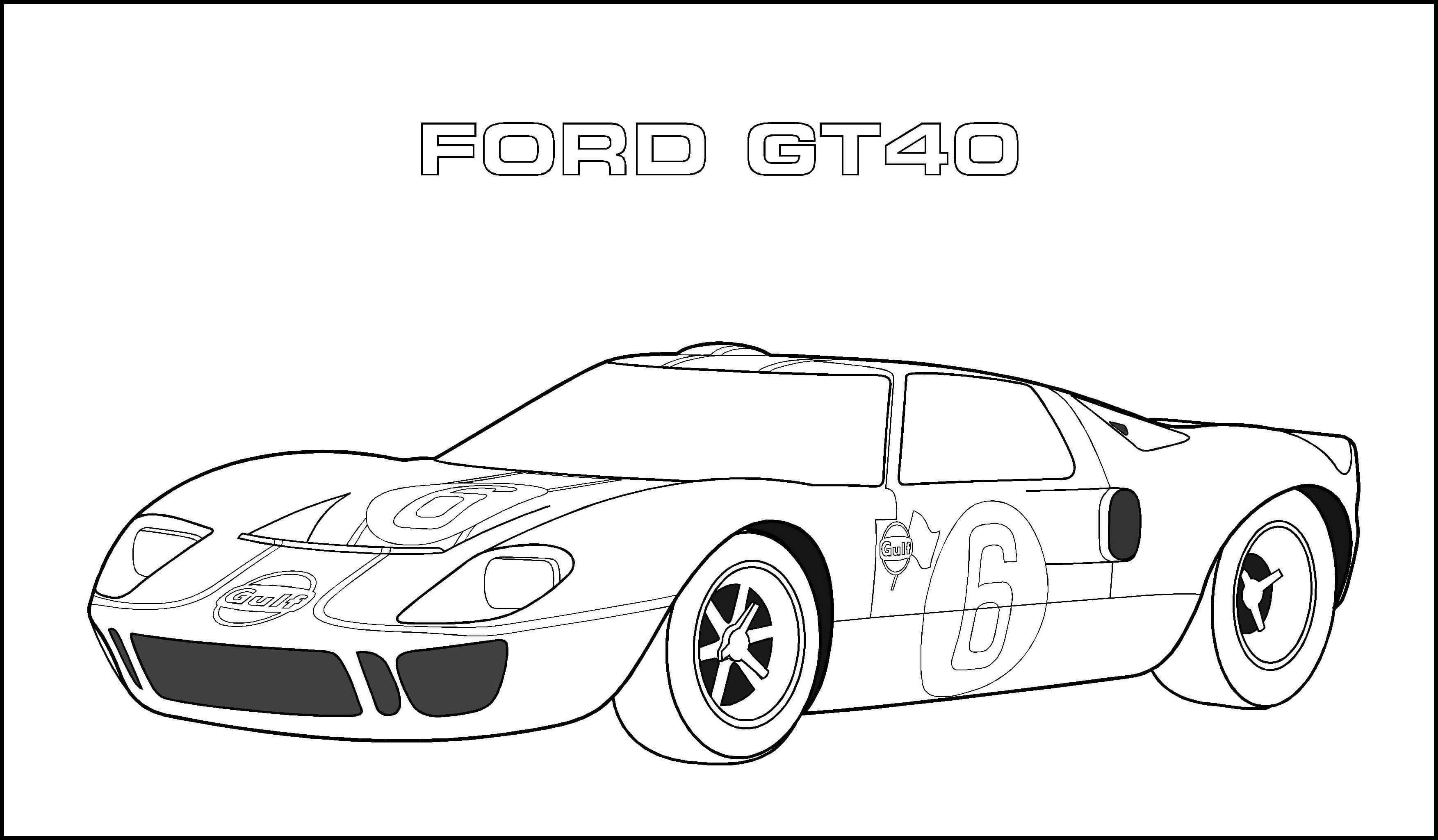 sports car coloring pages ford