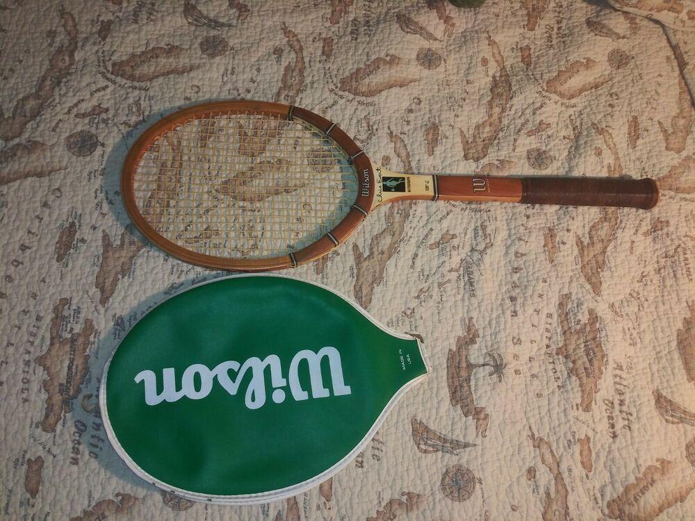 "Vintage Wilson Chris Evert Autograph 4 3/8"" Wood Tennis"