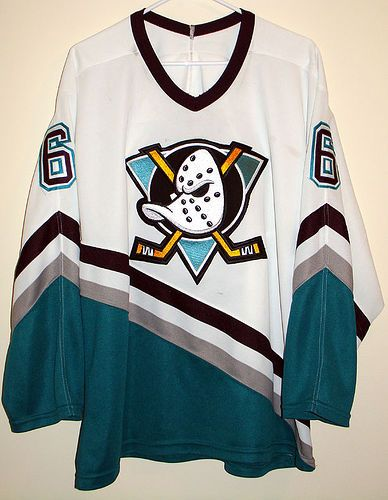 brand new 74c94 4bd04 Colombe Jacobsen Mighty Ducks 2 Movie Worn Jersey in 2019 ...