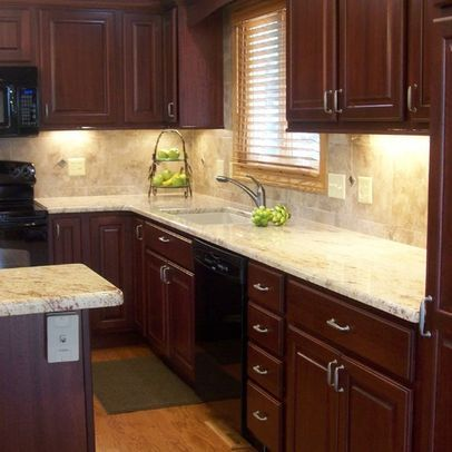 Pulls For Cherry Cabinets And Gray Granite Countertops Google