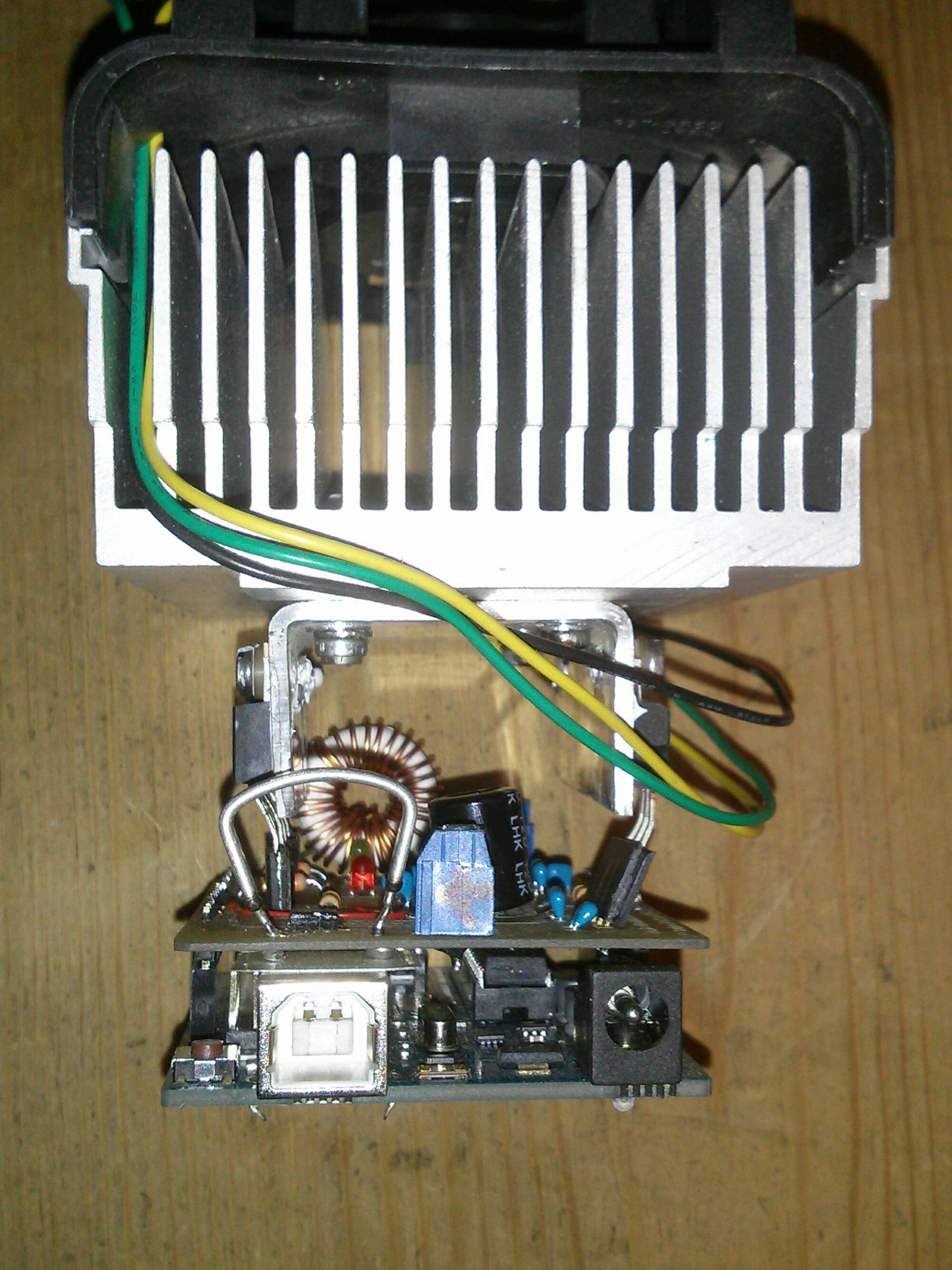 arduino based mppt solar charger mounted on a salvaged pentium 4