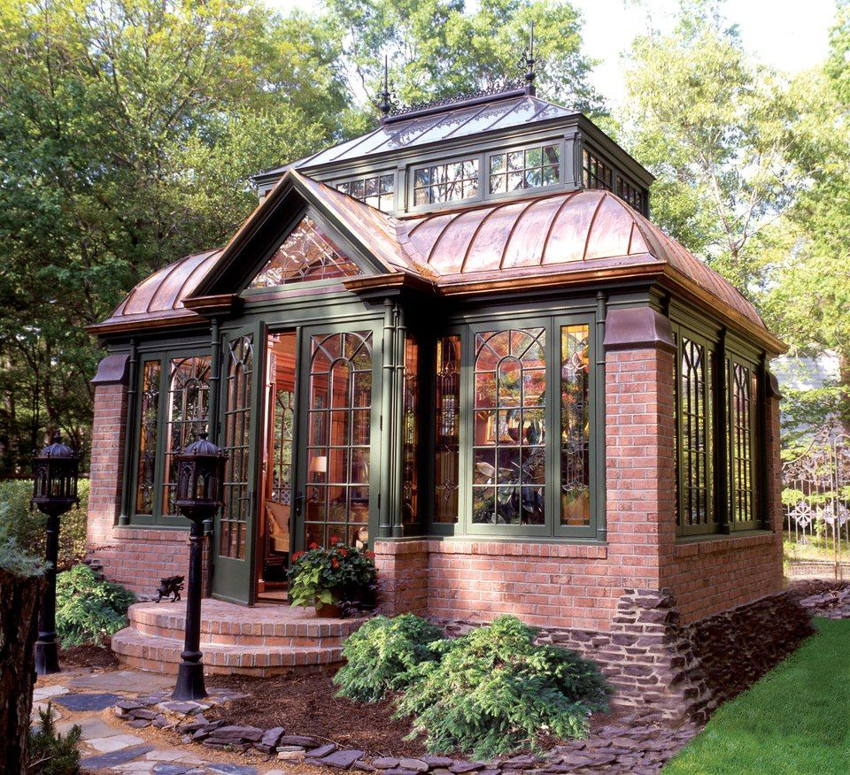 Best Brick And Glass Tiny Cottage Love The Overall Design 400 x 300