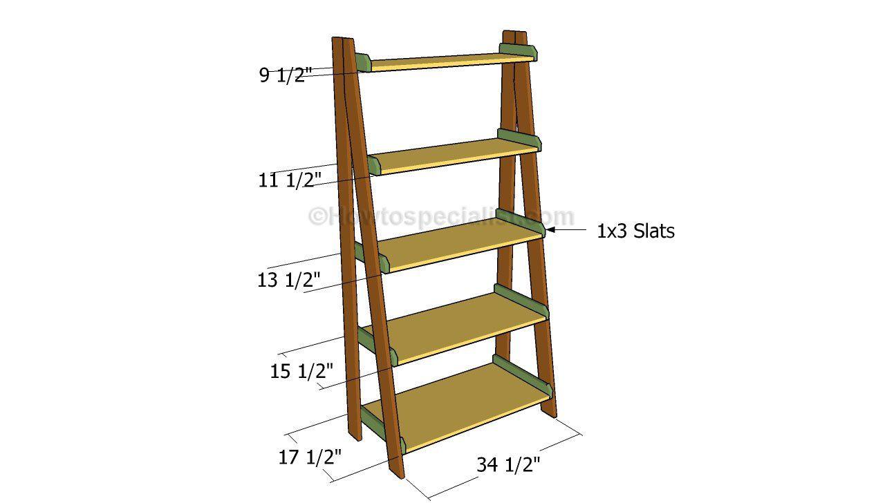 Ladder Shelves Plans Bookshelves Diy Ladder Shelf Diy Ladder