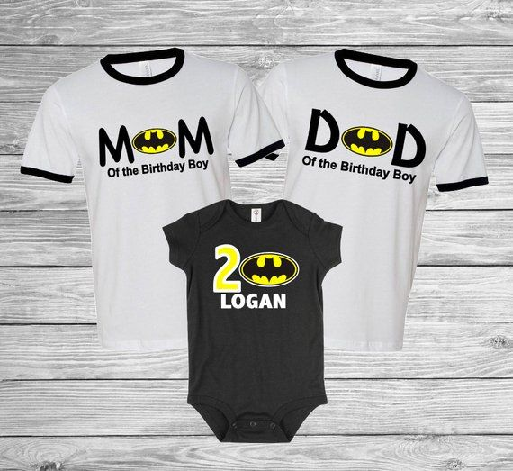 Personalized Batman Birthday Shirt Family Set 1st 2nd 3rd Raglan Baseball O