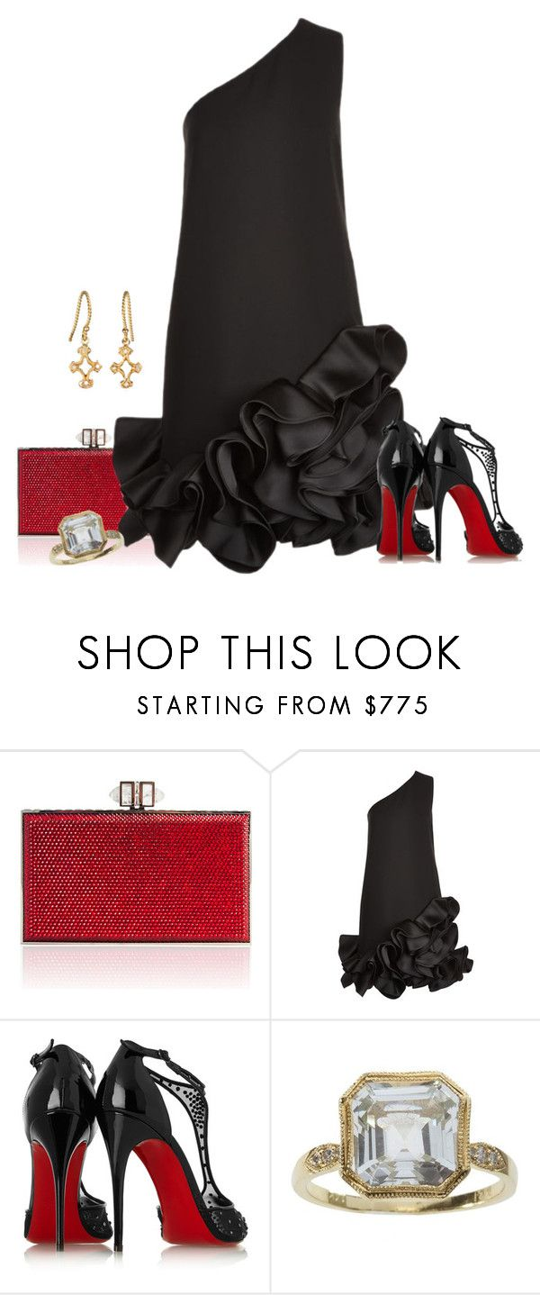 """Untitled #2151"" by anfernee-131 ❤ liked on Polyvore featuring Judith Leiber, Victoria, Victoria Beckham and Christian Louboutin"
