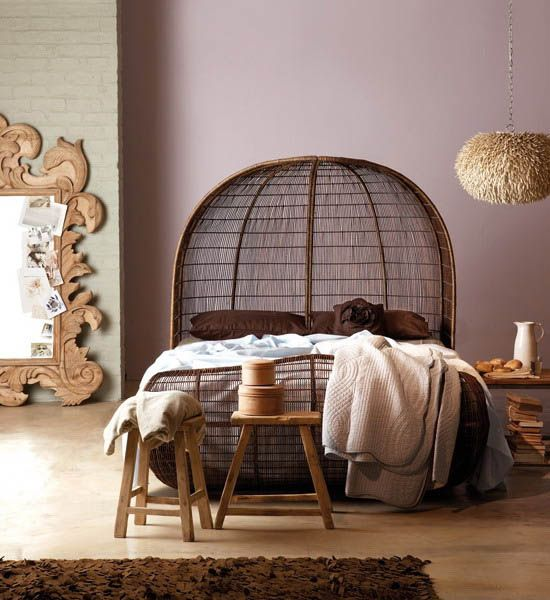 Bedroom Decor Supplies: Huge Carved Wood Mirror