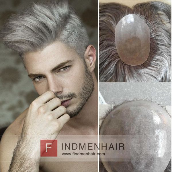 dedcd7a73 Fashion Gents Short Dashing Hairstyles White Silver Hair Wigs For Young Man