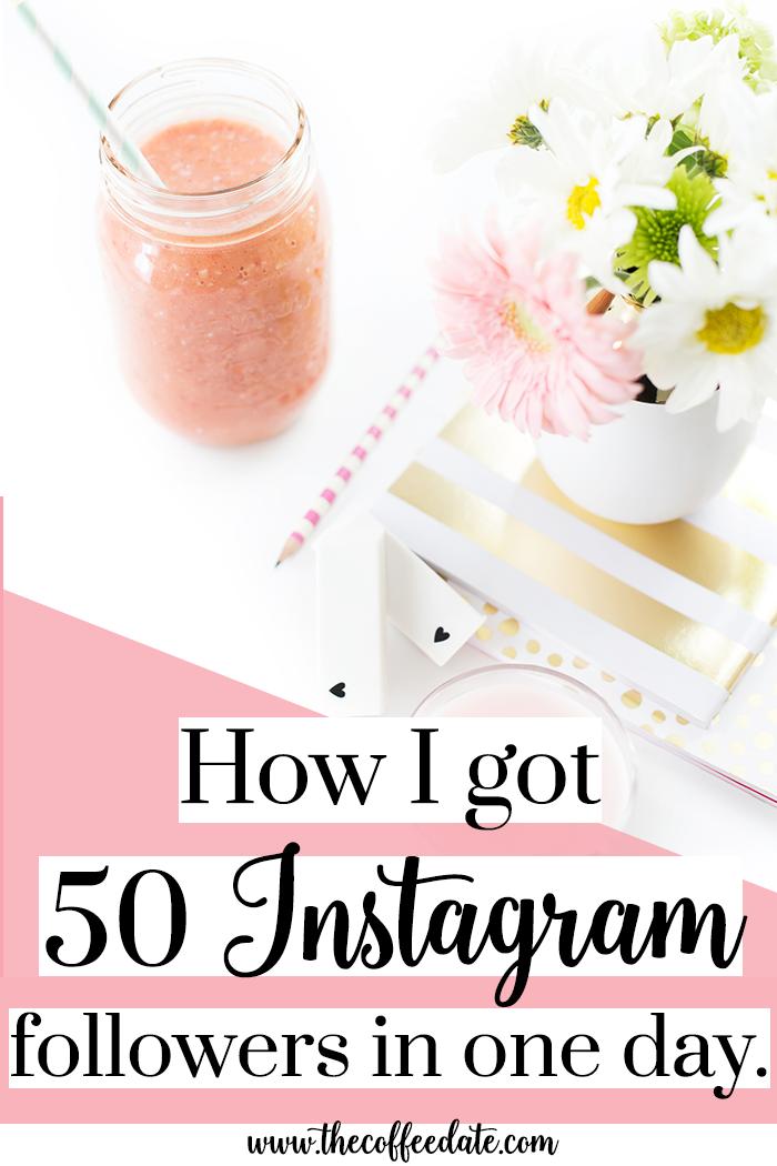 How I got 50 Instagram Followers in a day | Instagram