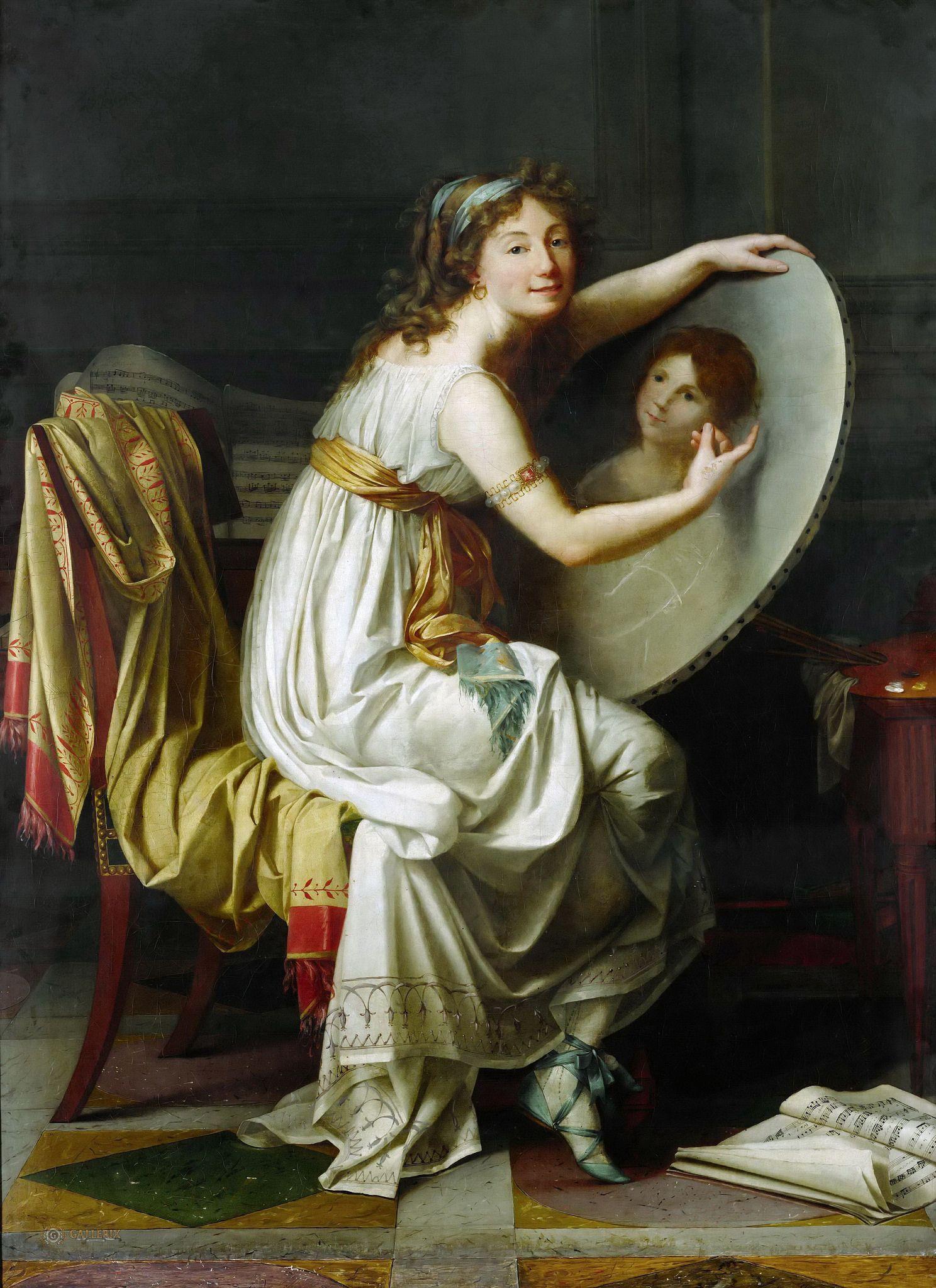 https://flic.kr/p/ru1qLQ | DAVID, JACQUES-LOUIS - Mlle Ducreux. 1770-80 | Fine Art Museum (Musée des Beaux Arts), Rouen.. .