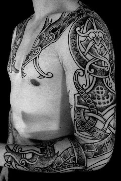 16 Norse Tattoos For Your Inner Viking Viking Tattoos Rune