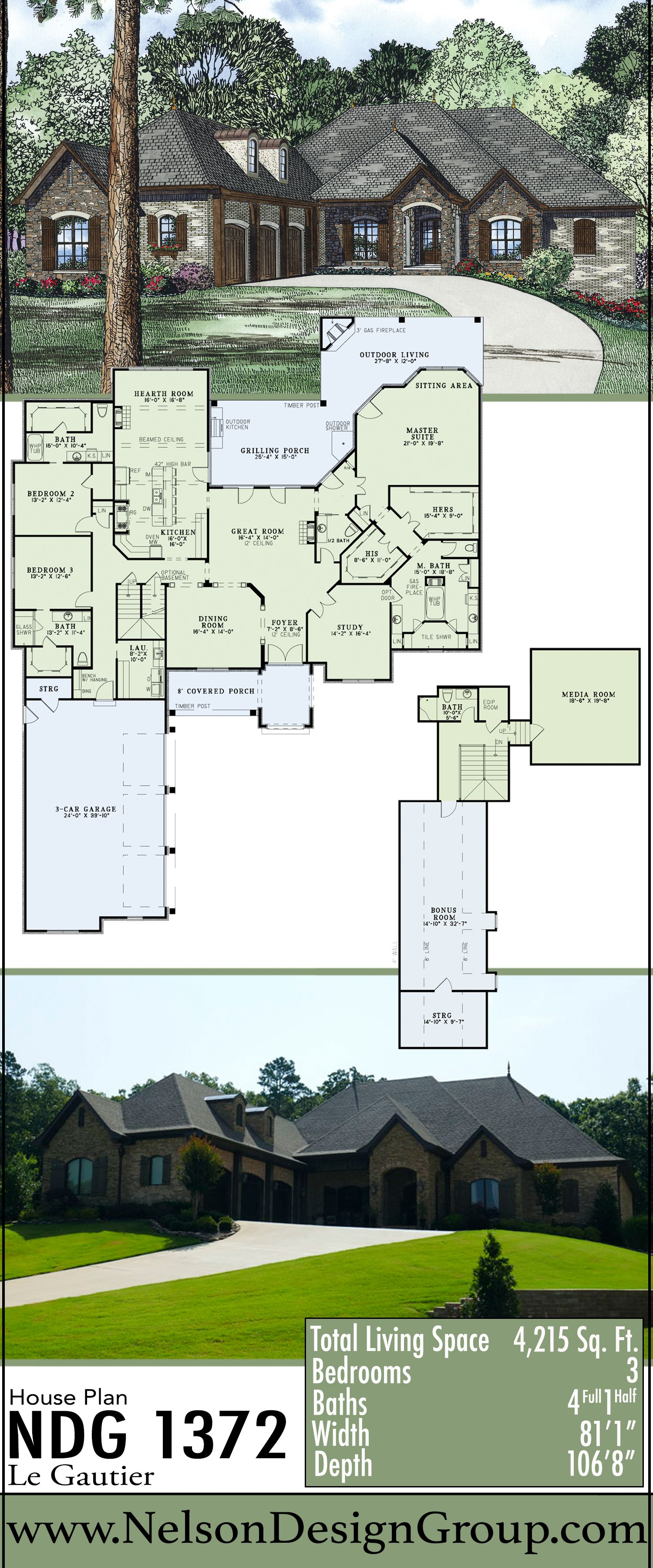Pin By Nelson Design Group Llc On House Plans House Plans Custom Home Plans European House Plans