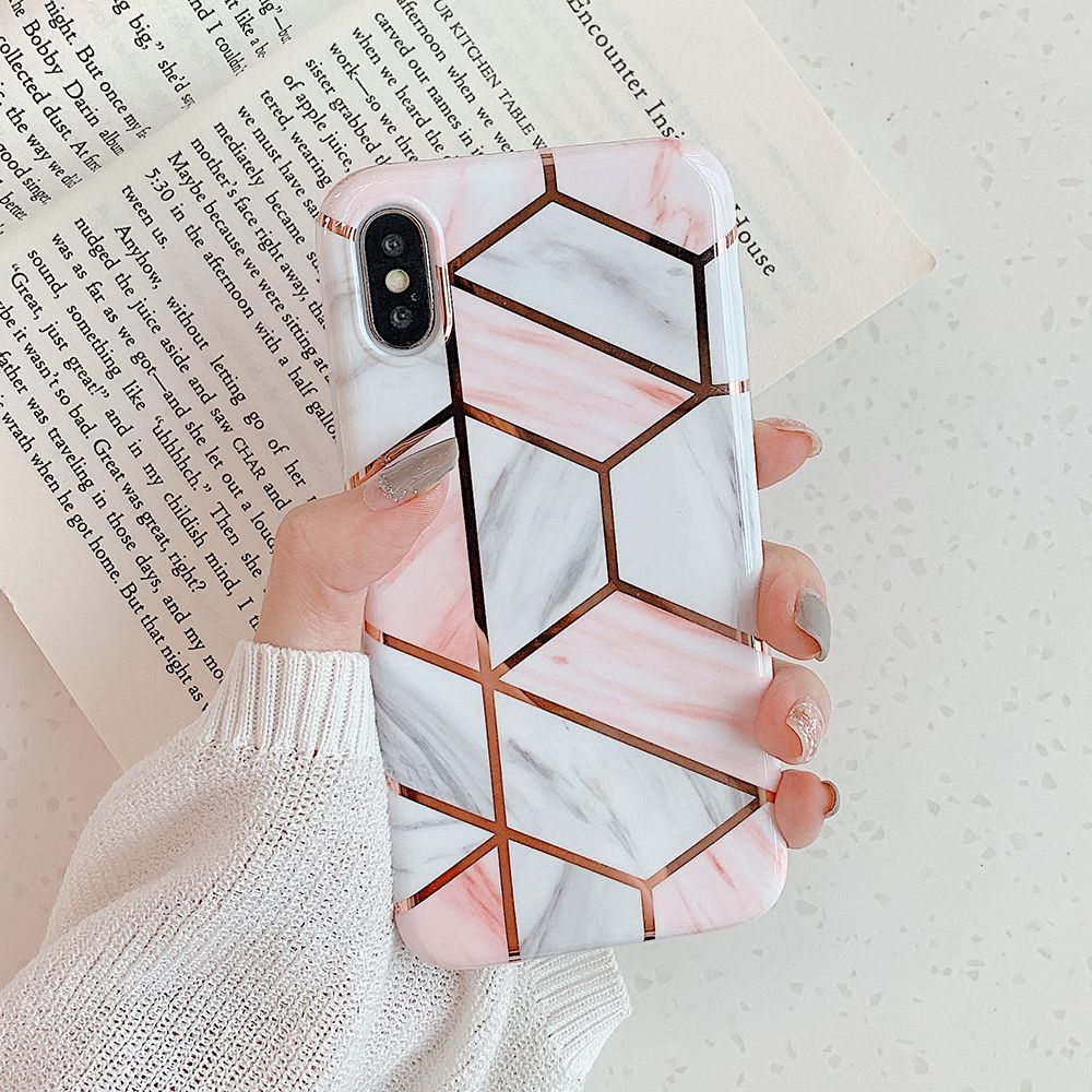 Insnic Geometric Marble Texture Iphone Cases Phone Cases Marble Geometric Iphone Marble Case