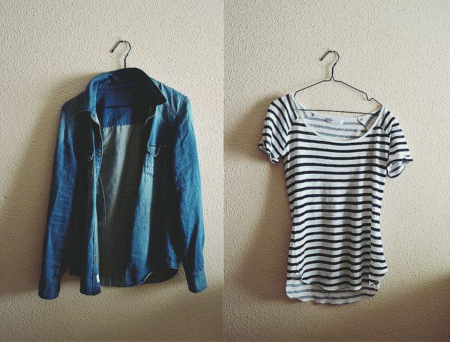 listra, jeans, jaqueta, t shirt