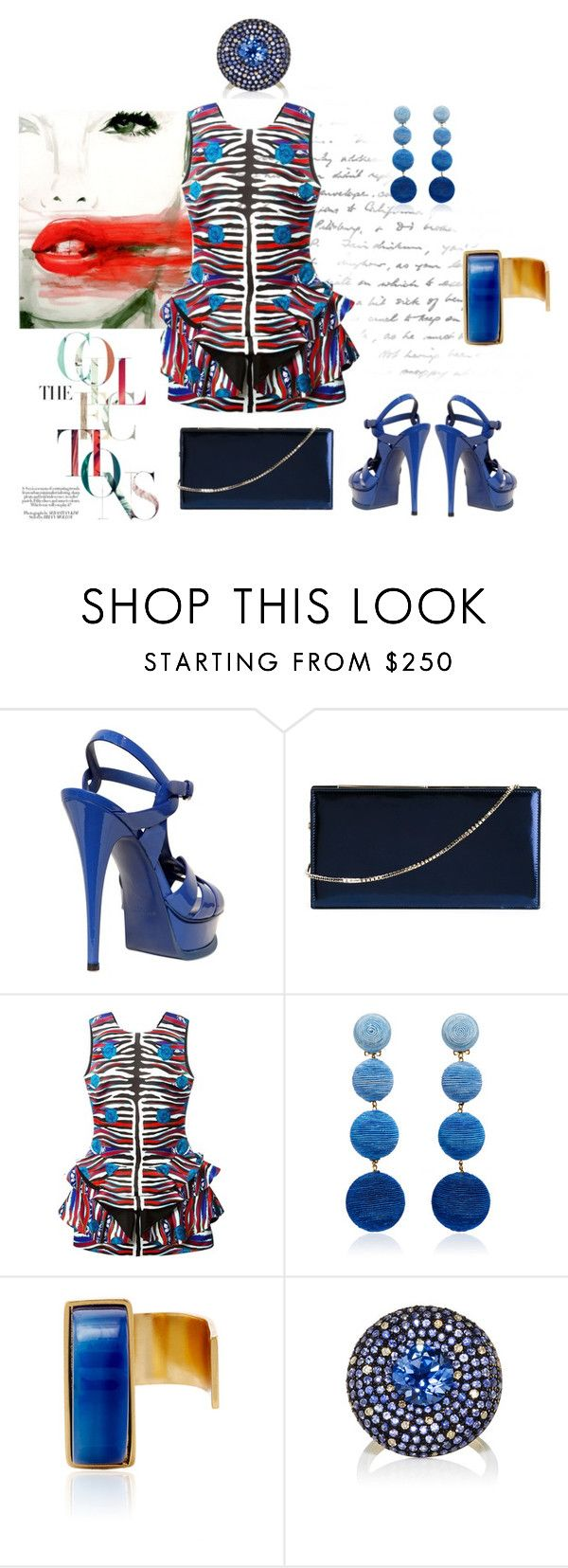 """""""The collections..."""" by zabead ❤ liked on Polyvore featuring Yves Saint Laurent, Jimmy Choo, Roberto Cavalli, Paula Mendoza and Lauren Craft"""