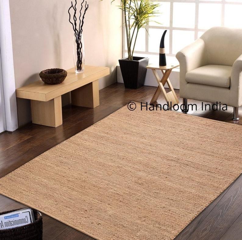 Indian Braided Floor Rugs Carpet In 2020 Natural Jute Rug Living Room Area Rugs Jute Rug Runner
