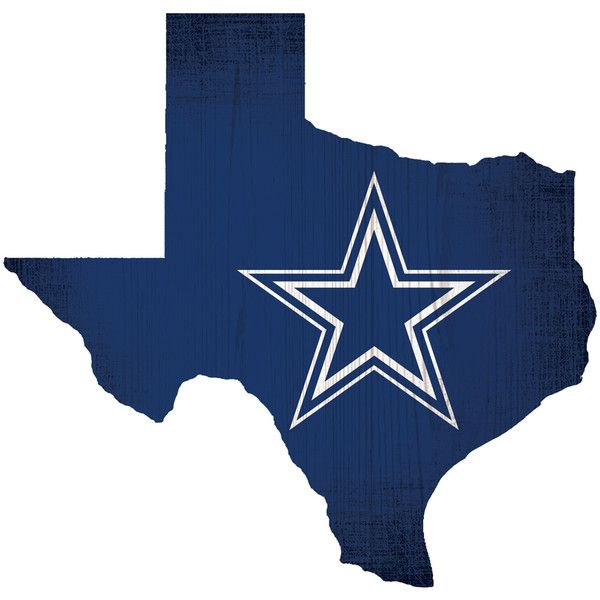 Fan Creations Dallas Cowboys Team Color Logo State Wall