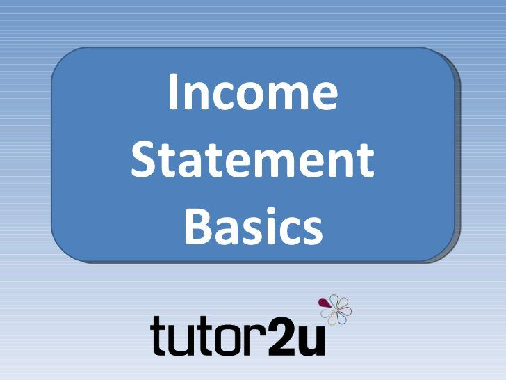 Income Statement Basics Profit and Loss through to Balance - income statement