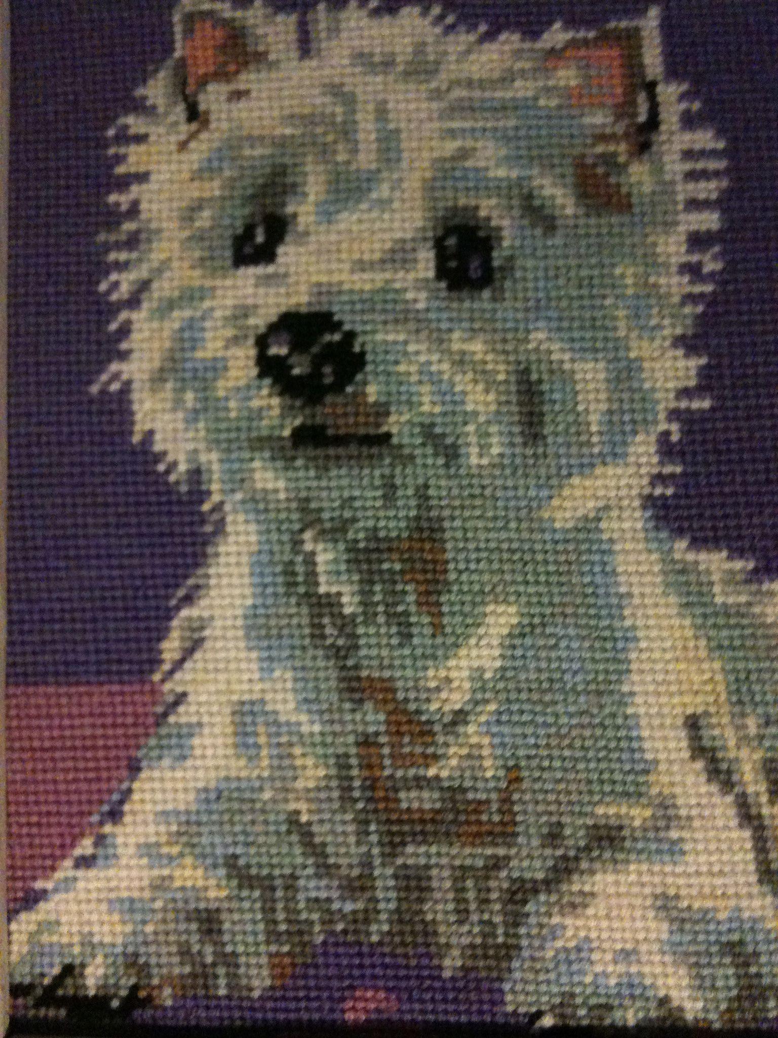 Westie cross stitch | Westie cross stitch | Cross stitch, Cross