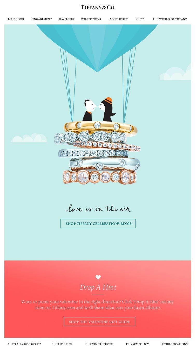 Tiffany Co Valentine Day Newsletter Emailmarketing Newsletter