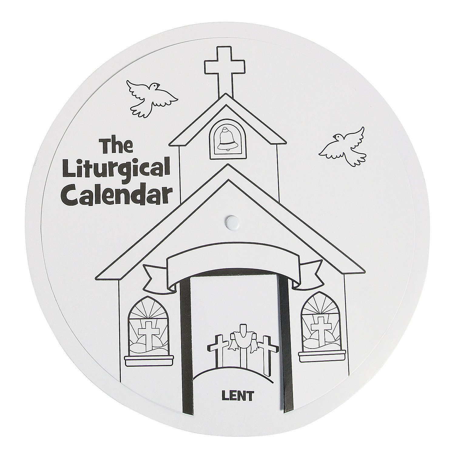 Color Your Own Liturgical Calendar Learning Wheel 6 50