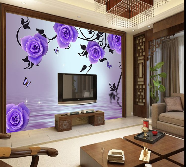 Ordinary Wallpaper For Walls Prices Part - 14: Purple Modern Kitchen Paint Wall Murals | Large Mural Modern Wallpaper  Photo Or Paint Print Wall