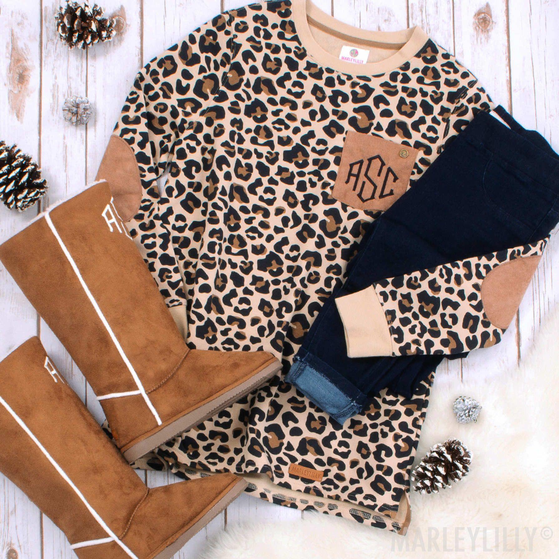 Monogrammed Leopard Print Sweatshirt Leopard Sweatshirt Leopard Print Sweatshirt Sweatshirts [ 1791 x 1791 Pixel ]