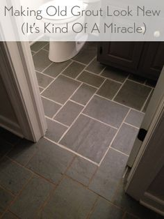 clean tile floor treatment for bathroom floor | Making Old Discolored Grout Look Like New | Cleaning ...