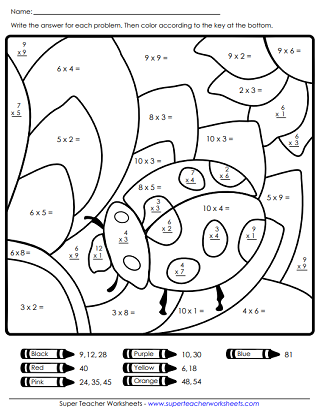 Kindergarten Color By Number Google Search Spring Math Worksheets Super Teacher Worksheets Spring Worksheet