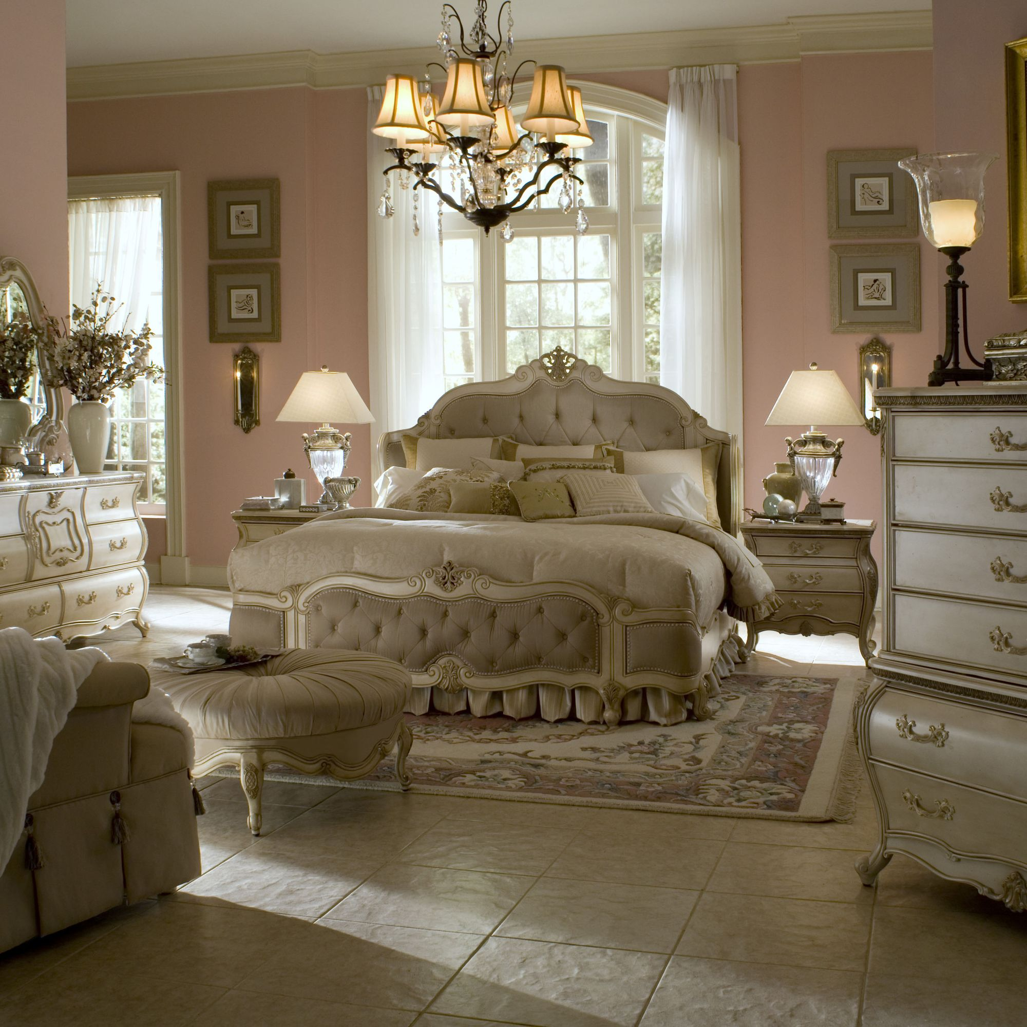 Mansion Master Bedroom: AICO Lavelle Mansion Panel Bedroom Collection