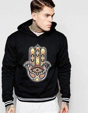 Jaded London | Jaded London Sweatshirt In Neoprene With Tapestry Print at ASOS