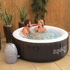 Amazon Com Bestway 54124 Lay Z Spa Miami Inflatable Hot Tub Patio Lawn Garden Inflatable Hot Tubs Hot Tub Reviews Spa Hot Tubs