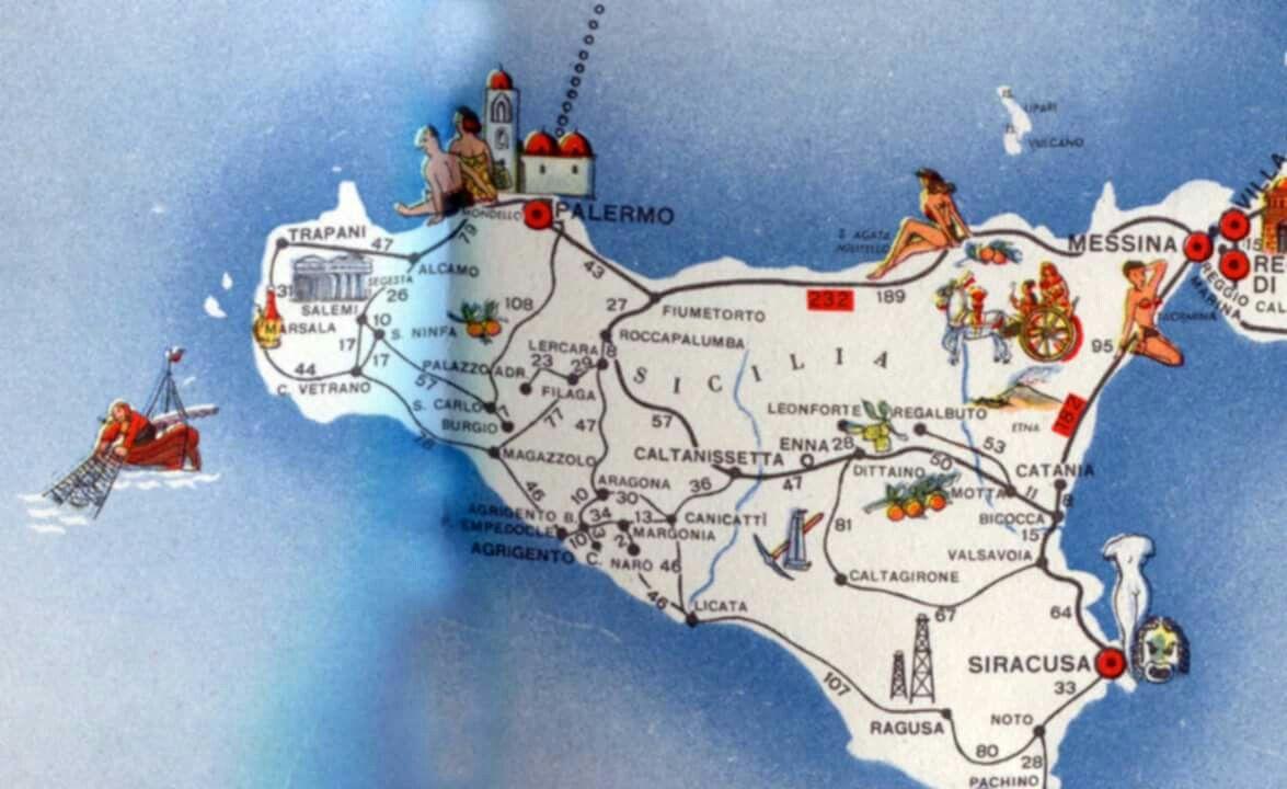 Cartina Ferroviaria Sicilia.Mappa Ferroviaria Sicilia Mappa