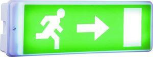Applique éclairage d'urgence à LED, Batterie de secours 3h. 4 autocollants directionnels inclus.