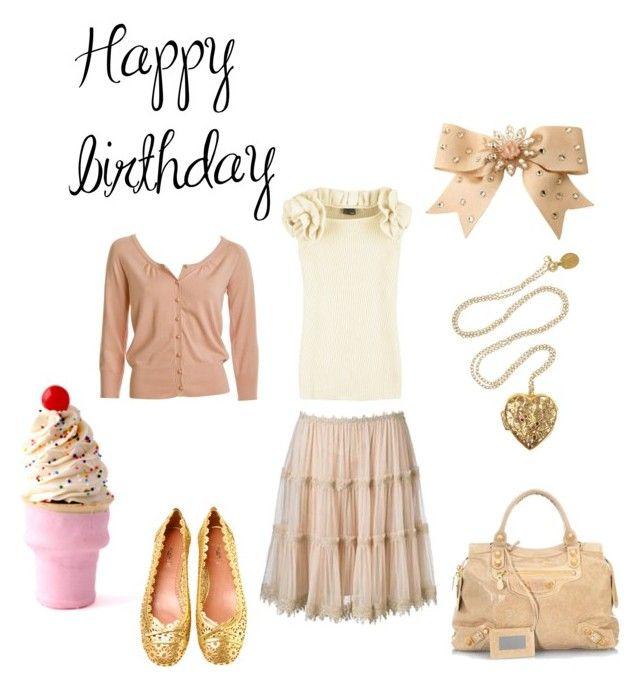 Happy Birthday by giubagnols on Polyvore featuring polyvore, fashion, style, Fendi, Alaïa, Balenciaga, Alex Monroe, Tarina Tarantino, Dylan's Candy Bar and clothing