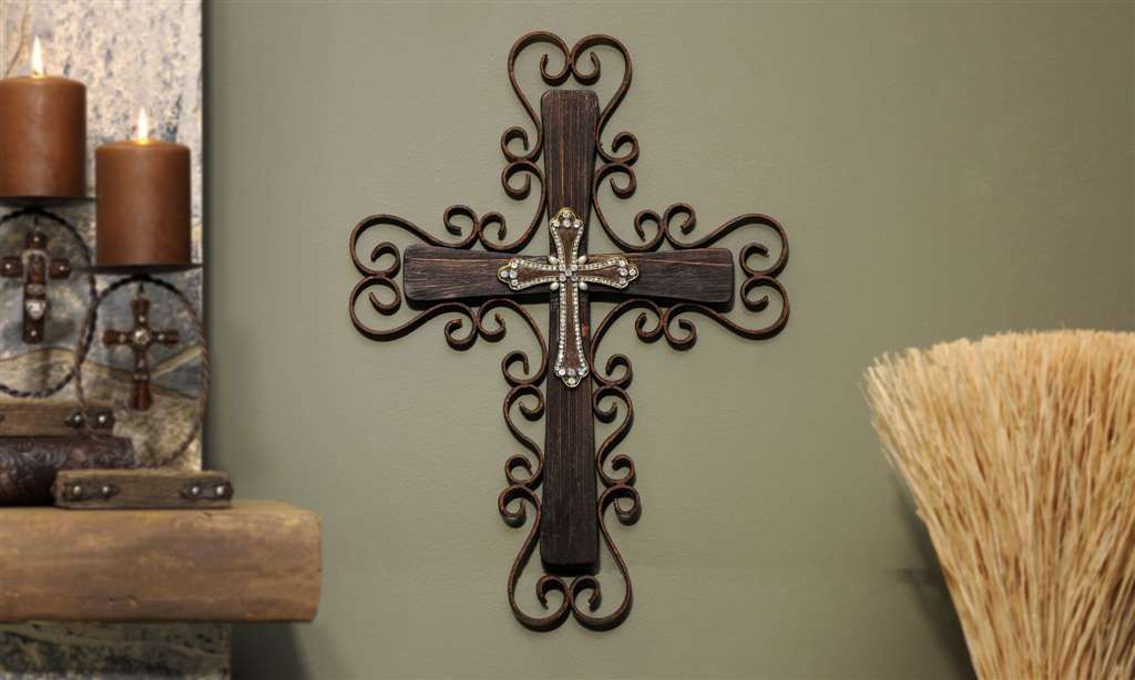 Decorative Wooden Crosses Metal Painted Wooden Wall Cross Gifts Home Decor Western Cross: home decor wall crosses