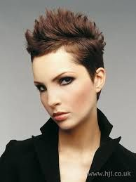 Spiky Black Hairstyles For Women Google Search Short Hair