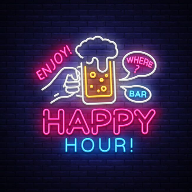 Happy Hour Enjoy Where Bar Led Neon Sign Neon Signs Neon Neon Art