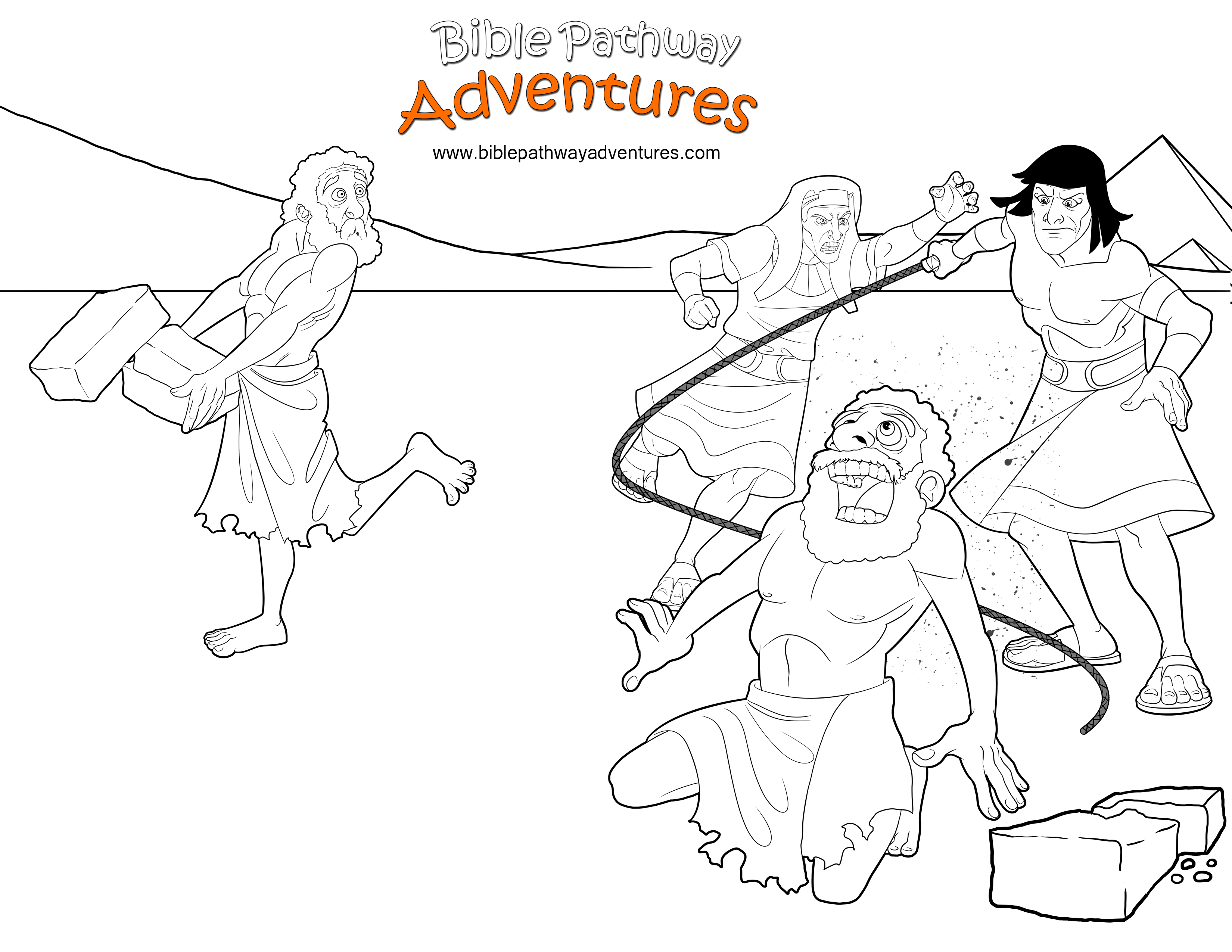 bible coloring page  moses protects a hebrew slave