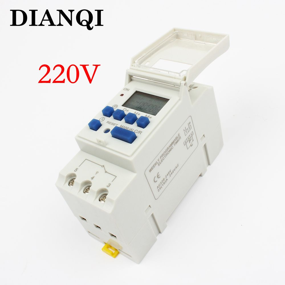 Electronic Weekly 7 Days Programmable Digital Timer Switch Relay Circuit Control 220v 230v 6a 10a 16a 20a