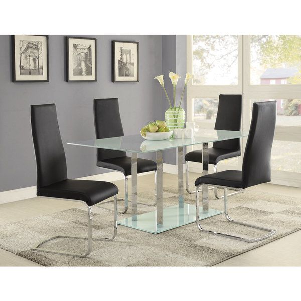 Geneva Frosted Glass Dining Table
